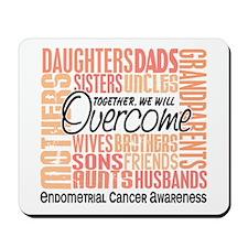Family Square Endometrial Cancer Mousepad