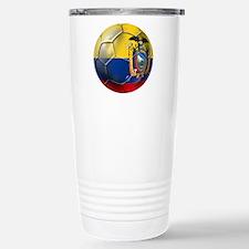 Ecuador Soccer Ball Travel Mug