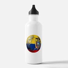 Ecuador Soccer Ball Water Bottle