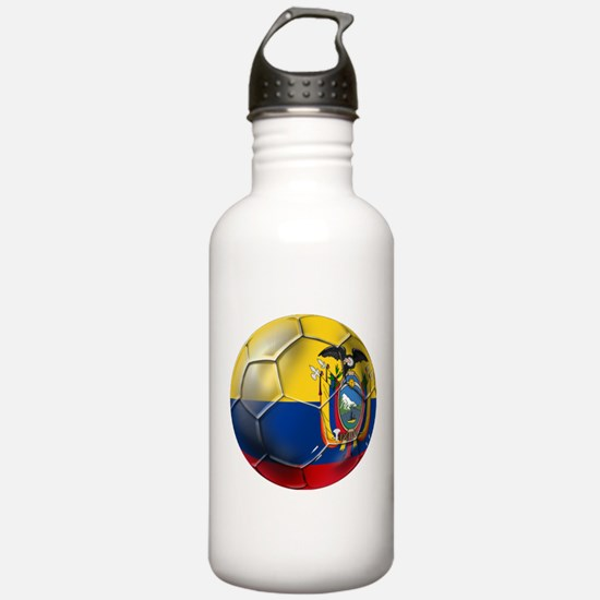 Ecuador Soccer Ball Water Bottle