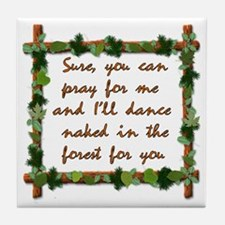 Naked Pagan Dance Tile Coaster