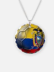 Ecuador Soccer Ball Necklace
