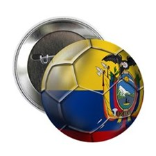 """Ecuador Soccer Ball 2.25"""" Button"""