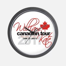 Will & Kate Canadian Visit Wall Clock