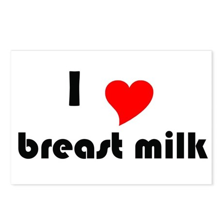 I (Heart) Breast Milk Postcards (Package of 8)