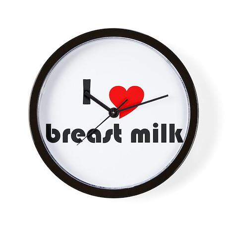 I (Heart) Breast Milk Wall Clock