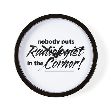 Radiologist Nobody Corner Wall Clock