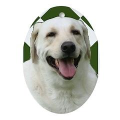 Labrador Ornament (Oval)