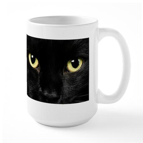 Black Cat Eyes Large Mug