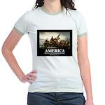 America: We will kill you in yo Jr. Ringer T-Shirt