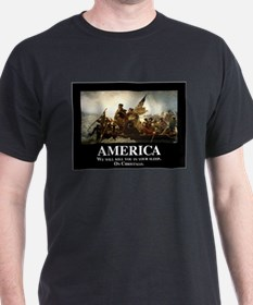 America: We will kill you in your sle T-Shirt