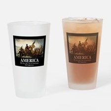 America: We will kill you in your s Drinking Glass