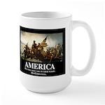 America: We will kill you in your sleep Large Mug