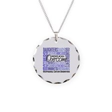 Family Square Esophageal Cancer Necklace