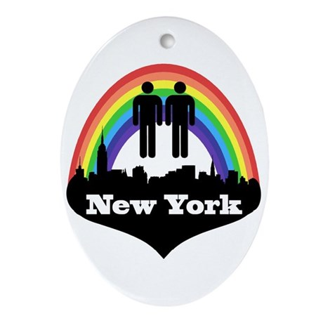 Gay Marriage in New York Ornament (Oval)