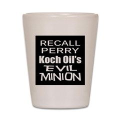 Recall Governor Rick Perry Shot Glass