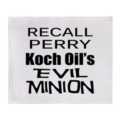 Recall Governor Rick Perry Throw Blanket