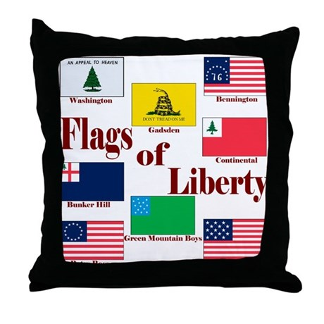 The Flags Of Liberty Throw Pillow
