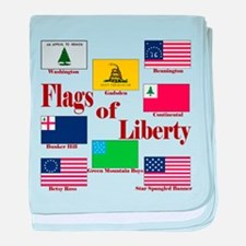 The Flags Of Liberty baby blanket