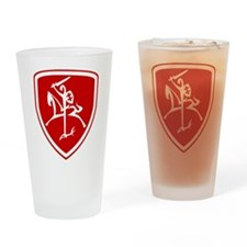 Red Vytis Drinking Glass