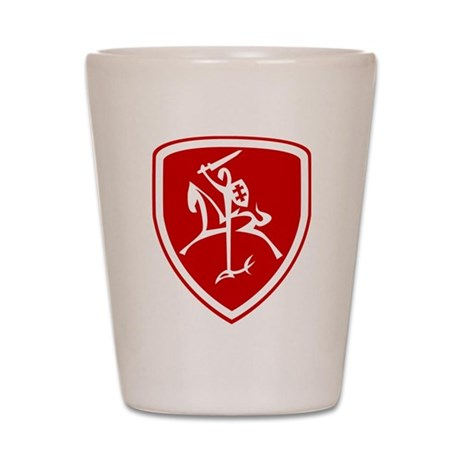 Red Vytis Shot Glass