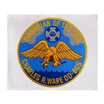 USS CHARLES R. WARE Throw Blanket