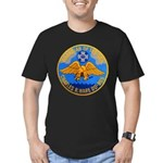 USS CHARLES R. WARE Men's Fitted T-Shirt (dark)