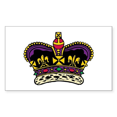 King's Crown Icon Sticker (Rectangle)