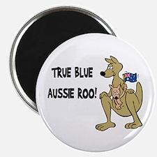 True Blue Aussie Roo Round Magnet (10 pack)