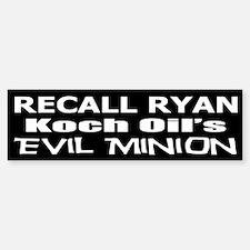 Recall House Rep Paul Ryan Bumper Bumper Sticker
