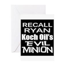 Recall House Rep Paul Ryan Greeting Card