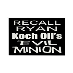 Recall House Rep Paul Ryan Rectangle Magnet (10 pa