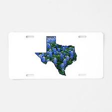 TX Bluebonnets Aluminum License Plate