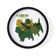 Cairn Terrier Silhouttes Wall Clock