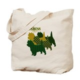 Cairn terrier Canvas Totes