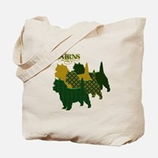 Cairn Terrier Silhouttes Tote Bag