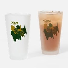 Cairn Terrier Silhouttes Drinking Glass