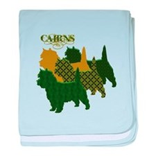 Cairn Terrier Silhouttes baby blanket