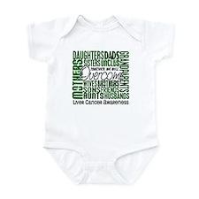 Family Square Liver Cancer Infant Bodysuit