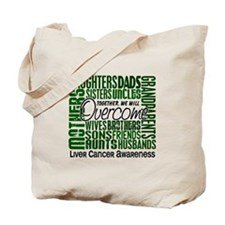 Family Square Liver Cancer Tote Bag