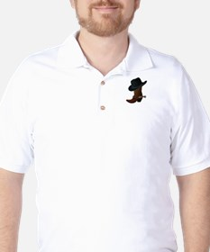 Western Boot & Hat Icon Golf Shirt