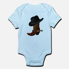 Western Boot & Hat Icon Infant Bodysuit
