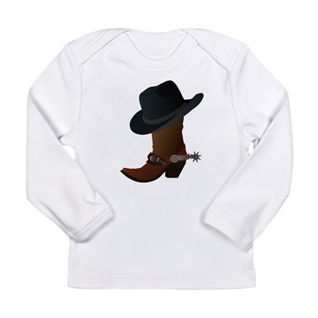 Western Boot & Hat Icon Long Sleeve Infant T-Shirt