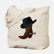 Western Boot & Hat Icon Tote Bag
