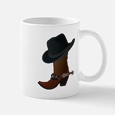 Western Boot & Hat Icon Mug
