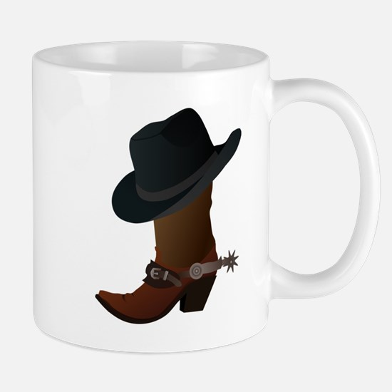 Western Boot & Hat Icon Mug
