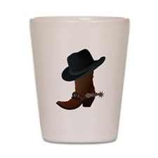 Western Boot & Hat Icon Shot Glass
