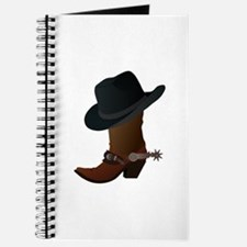 Western Boot & Hat Icon Journal