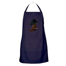 Western Boot & Hat Icon Apron (dark)