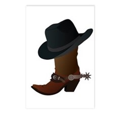 Western Boot & Hat Icon Postcards (Package of 8)